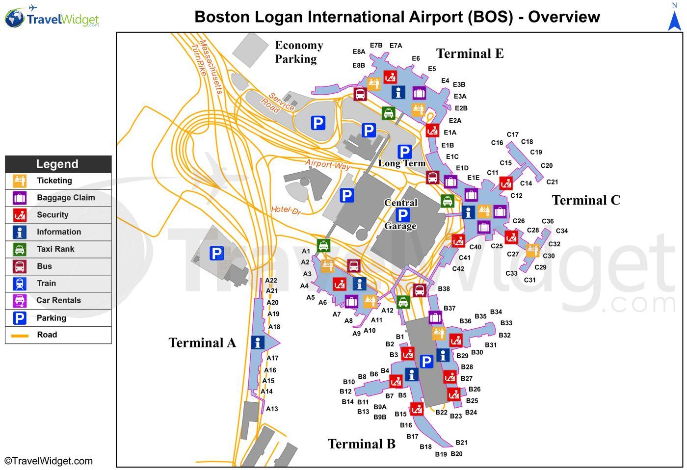 Loganin Kansainvalinen Lentokentta Kartta Kartta Logan