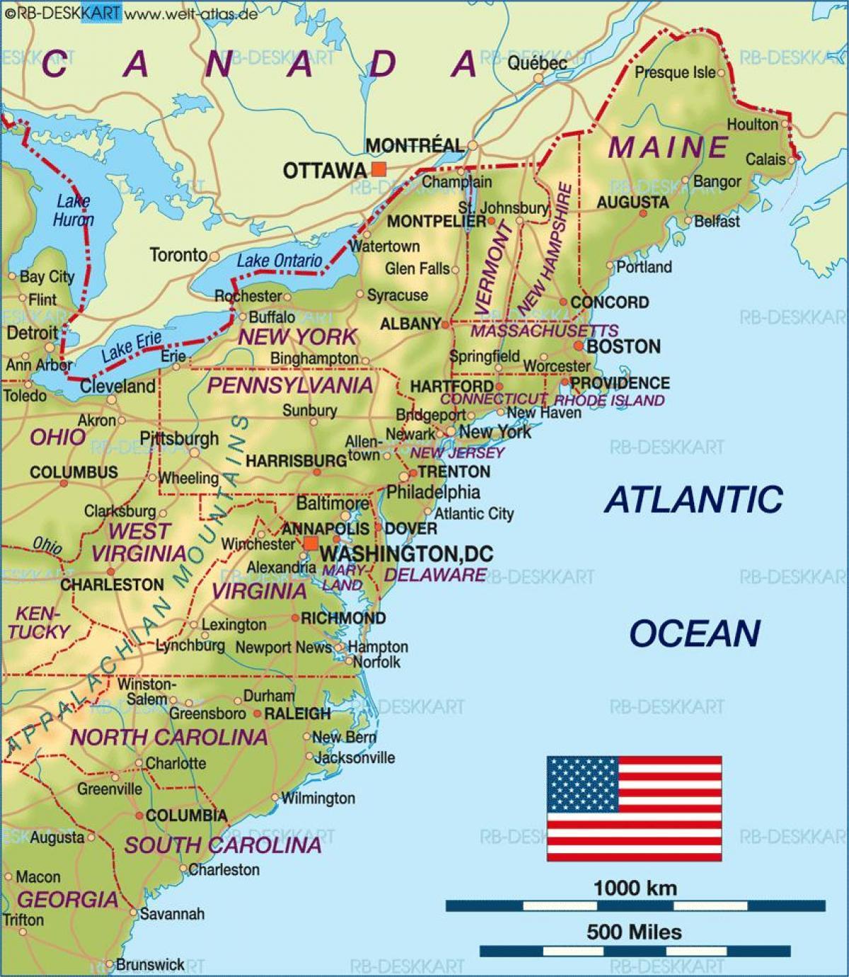 Boston Usa Map Boston On Yhdysvaltain Kartta Yhdysvallat